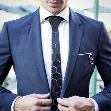 Hex Tie Men Acrylic Glass Groom Party Wear Bollywood Style With Box