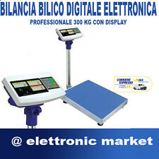 BILANCIA BILICO DIGITALE ELETTRONICA PROFESSIONALE 300 KG CON DISPLAY