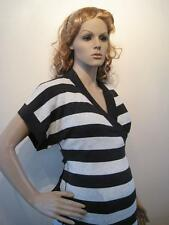 Mamas & Papas RRP £38Maternity Black White Stripe Knitted Wrapper Cardigan Small