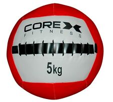 CoreX Wall Ball (Red / White): 5kg, 10kg Training Gym weight, body workout
