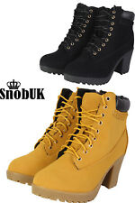 NEW LADIES WOMENS MID WEDGE NUBUCK COMBAT MILITARY ARMY WORKER ANKLE BOOTS SHOES