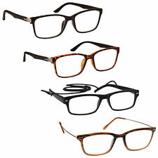 UV Reader Mens Special Super 4 Pack Reading Glasses Deal Black Brown 4PKM