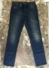 NEW John Galliano Navy Stonewash Jeans with Paint Detail GENUINE RRP: £445