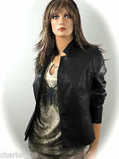~ BLACKY DRESS ~ Stylische Leder Jacke ~ Blazer ~ Gr.36/40/42/44 ~ NEU