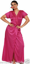 SevenFold Women Satin Multi Color Nighty,Night Suit, Night dress with Robe