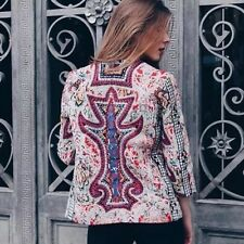 ZARA embroidered embellished blazer jacket with beads sold out bloggers new L