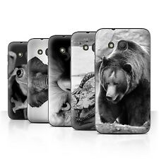 "STUFF4 Phone Case/Back Cover for Alcatel Pixi 4 (4"") /Mono Zoo Animals"