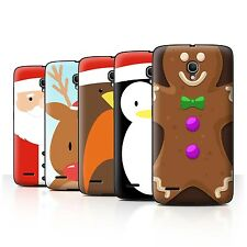 """STUFF4 Phone Case/Back Cover for Alcatel Pop 2 (5"""") /Christmas Character"""