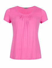 Marks & Spencer Womens Short Sleeve Pink Pleated Top New M&S Plus Size T-Shirt