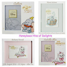 PERSONALISED Wooden DISNEY Wooden Plaque Photo FRAME Gift For Baby Boy GIRLS Bir