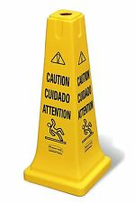 Rubbermaid Commercial 25.75 inch Multi Lingual Safety Cone with Caution Imprint