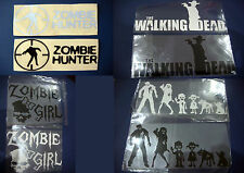 autocollant voiture moto sticker zombie girl hunter tuning the walking dead rick