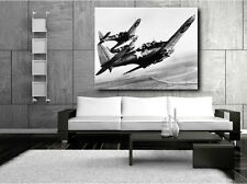 Three US Navy Dauntless Dive Bombers Black and White Canvas Art Poster Print