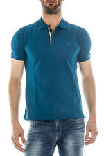 Polo Burberry Polo Shirt % OXFORD MADE IN ITALY Uomo Blu 3995506-