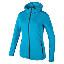 CMP Damen Stretch Fleece Jacke mit Kapuze Gr. 36 38 40 42 44 46 blau UVP 59,95 €