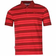 Slazenger Pique Yarn Dye Polo Shirt Mens Red/Crimson Top T-Shirt Tee