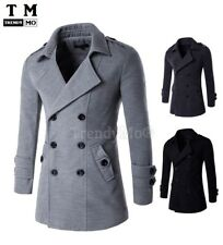 Mens Jacket Warm Winter Trench Coat Slim Fashion Casual Smart Jacket  9280