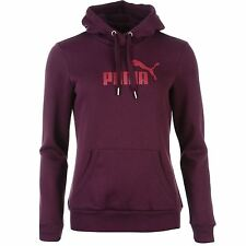 Puma No1 Logo Pullover Hoody Womens Plum/Pink Hooded Sweater Sweatshirt