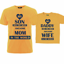 Dad and Son Tshirts ( awesome wife / mom ) , Family matching t-shirts