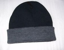 MENS STAFFORD ONE SIZE BEANIE WINTER HATS BLACK / GREY NEW WITH TAGS MSRP$18