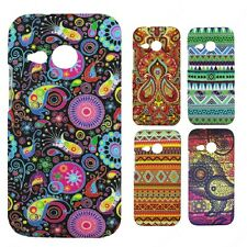 Heartly Aztec Print Tribal Matte Style Thin Hard Back Case Cover HTC One M8 Mini