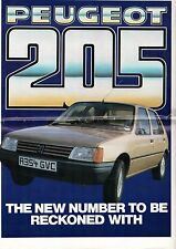 Peugeot 205 1983-84 UK Market Newspaper Format Brochure Base GL GLD GR GRD GT