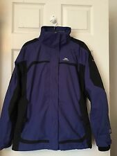 LADIES TRESPASS JACKET WITH DETACHABLE FLEECE SIZE S 8/ 10 UK BLUE