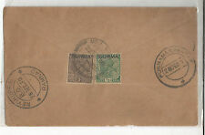 B1-INDIA - COVER USED IN BURMA - - 2 STAMPS  =1938