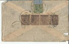 B1-INDIA - COVER USED IN BURMA - 5 STAMPS - SEE