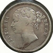 EAST INDIA COMPANEY 1840  ONE   RUPEE    QUEEN  VICTORIA  SILVER  COIN