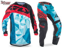 Fly Racing Kinetic Crux Motocross Combo 2017 Teal Rot Enduro Hose Jersey