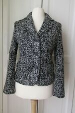Ladies Per Una  Black & White Boucle Jacket Size UK 10