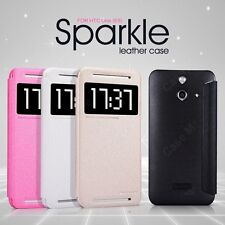 Nillkin Sparkle Series Leather Flip Stand Hard Bumper Back Case Cover HTC One E8