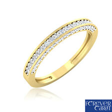 Certified 14k Hallmarked Gold Ring 0.41 Ct White Round Cut Diamond Ring Bands