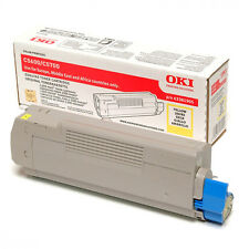 BRAND NEW GENUINE OKI 43381905 YELLOW ORIGINAL LASER TONER CARTRIDGE