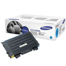 GENUINE SAMSUNG CLP-510D5C (510D5C) CYAN LASER PRINTER TONER CARTRIDGE