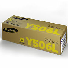 GENUINE SAMSUNG CLT-Y506L/ELS (Y506L) YELLOW HIGH CAPACITY LASER TONER CARTRIDGE