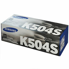 GENUINE SAMSUNG CLT-K504S/ELS (K504S) BLACK LASER PRINTER TONER CARTRIDGE