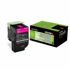 GENUINE LEXMARK 80C2HM0 MAGENTA HIGH CAPACITY RETURN PROGRAM TONER CARTRIDGE