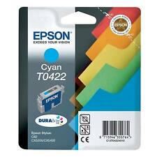 GENUINE EPSON STYLUS CYAN FILES SERIES INK CARTRIDGE - T0422 / C13T04224010