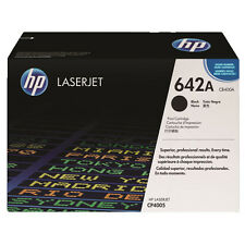 GENUINE HP HEWLETT PACKARD CB400A / 642A BLACK LASER PRINTER TONER CARTRIDGE