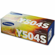 GENUINE SAMSUNG CLT-Y504S/ELS (Y504S) YELLOW LASER PRINTER TONER CARTRIDGE