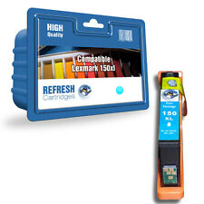 REFRESH CARTRIDGES CYAN 150XL INK COMPATIBLE WITH LEXMARK PRINTERS