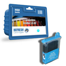 COMPATIBLE BROTHER LC-02C CYAN PRINTER INK CARTRIDGE (LC-02 SERIES)