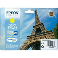 GENUINE EPSON EIFFEL TOWER SERIES YELLOW HIGH CAPACITY XL INK CARTRIDGE T7024