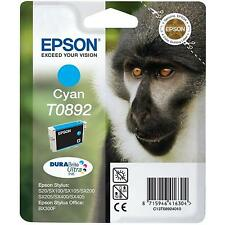 GENUINE EPSON MONKEY SERIES CYAN (BLUE)  DURABRITE PRINTER INK CARTRIDGE T0892