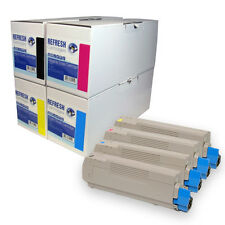 REMANUFACTURED OKI C5800 C5900 C5550 LASER PRINTER TONER CARTRIDGES (4332442)