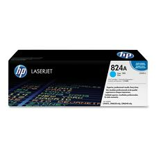 GENUINE HP HEWLETT PACKARD CB381A / 824A CYAN LASER PRINTER TONER CARTRIDGE