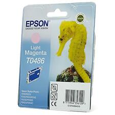 GENUINE EPSON SEA HORSE SERIES LIGHT MAGENTA INK CARTRIDGE T0486 (C13T04864010)