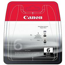 GENUINE OEM CANON BCI-6BK BLACK PRINTER INK CARTRIDGE / 13ML CAPACITY/ 440 PAGES